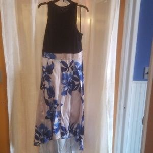 Womens Navy and White High Low Dress -NEW